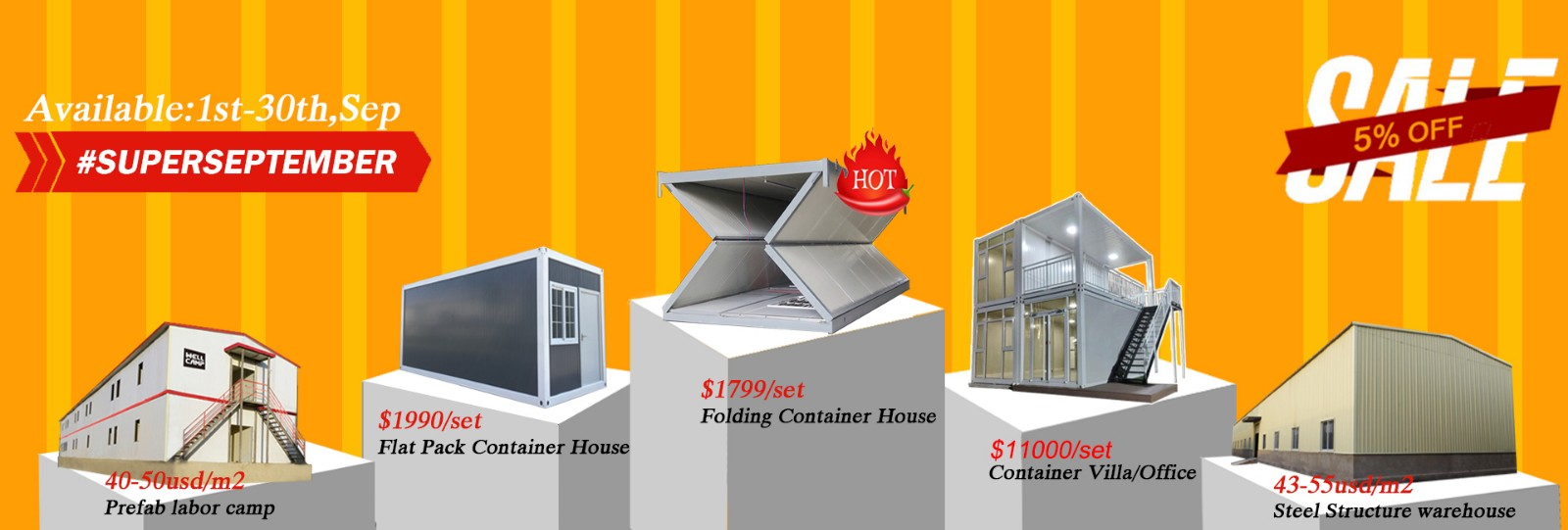 WELLCAMP, WELLCAMP prefab house, WELLCAMP container house-Biggest Promotion Super September, Foshan