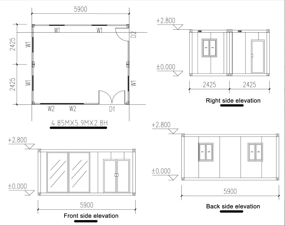 WELLCAMP, WELLCAMP prefab house, WELLCAMP container house-Container House Supplier, Flat Stacks Cont-3