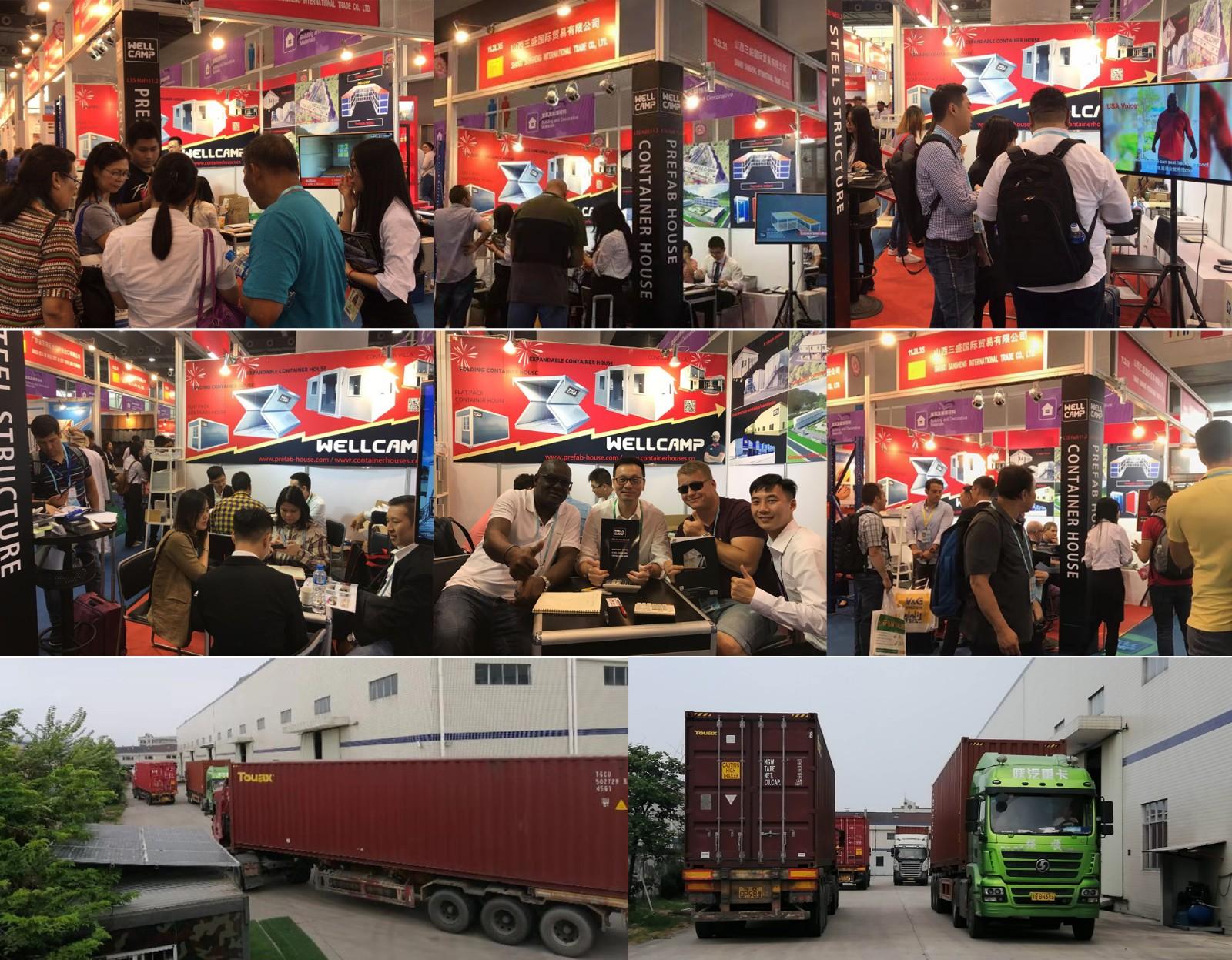 WELLCAMP, WELLCAMP prefab house, WELLCAMP container house-Busy Harvest 126th Canton Fair, Foshan We