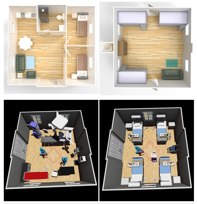 product-Luxury Prefab Container Homes with Two bedrooms One Bathroom-WELLCAMP, WELLCAMP prefab house-1