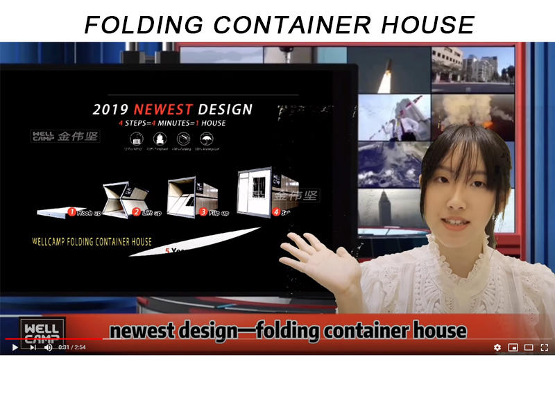 China Factory Wholesales Foldable Container House Dormitory Singapore