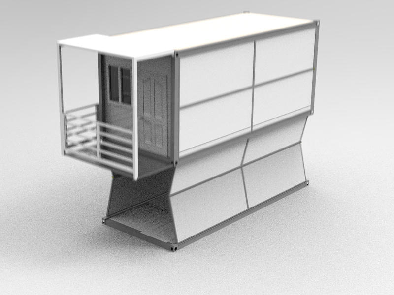 2020 Wellcamp Newest Mobile Two Floor Expandable Folding Container Home in One Package