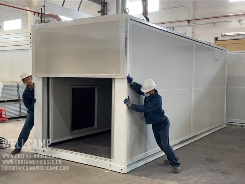 2020 Newest Folding Expandable Container House Installation