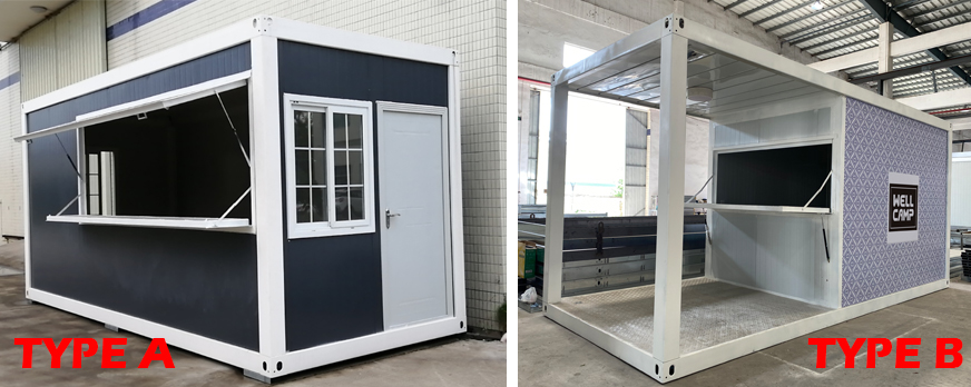 product-2020 Newest Mobile Portable Prefab Container Shop for Sales-WELLCAMP, WELLCAMP prefab house,