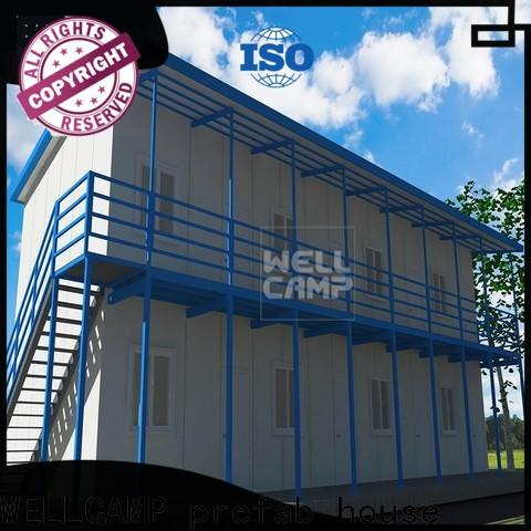 WELLCAMP, WELLCAMP prefab house, WELLCAMP container house three storey prefab house kits online for office