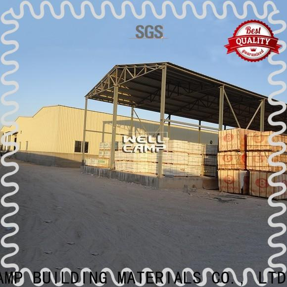 widely prefabricated warehouse with brick wall for sale