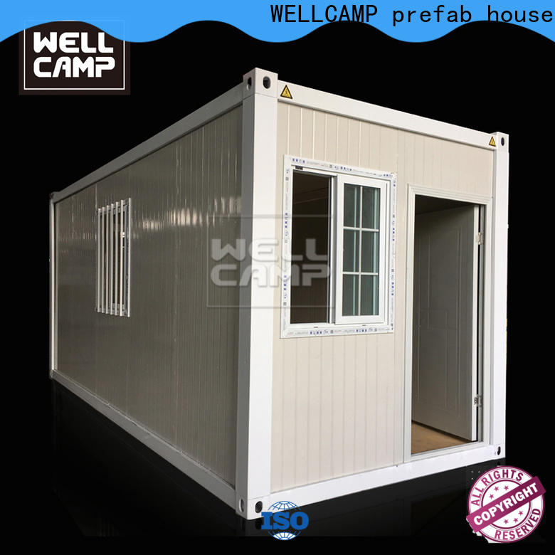 WELLCAMP, WELLCAMP prefab house, WELLCAMP container house roof crate homes with walkway for office