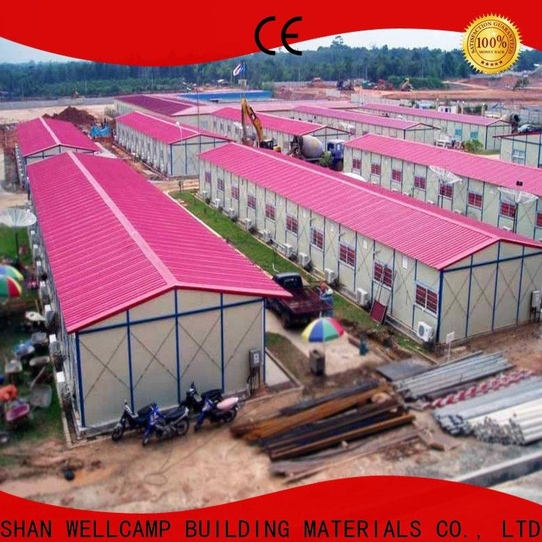 WELLCAMP, WELLCAMP prefab house, WELLCAMP container house steel warehouse with brick wall for sale