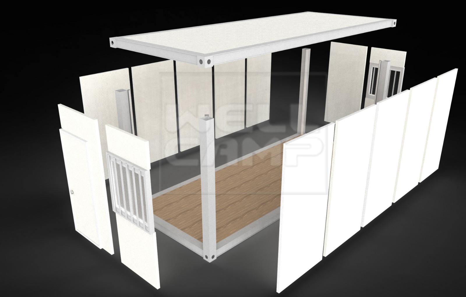 product-Portable Mobile Tiny Casa Modulates Prefabricadas Office Container Building-WELLCAMP, WELLCA