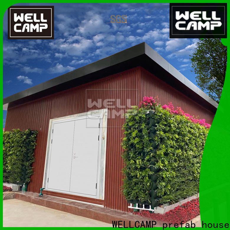WELLCAMP, WELLCAMP prefab house, WELLCAMP container house modern container homes in garden for resort