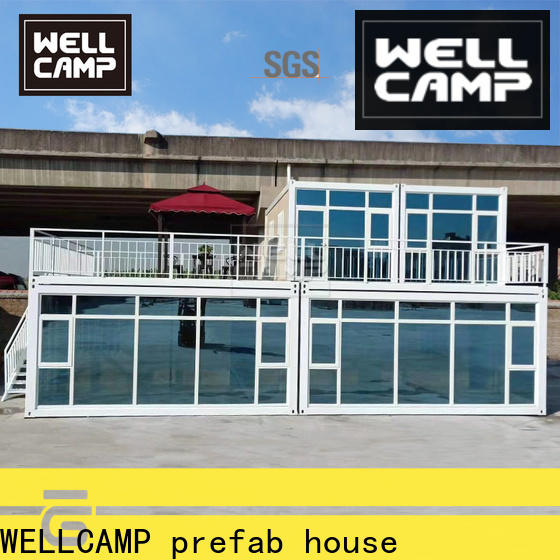 WELLCAMP, WELLCAMP prefab house, WELLCAMP container house sea can homes labour camp for resort