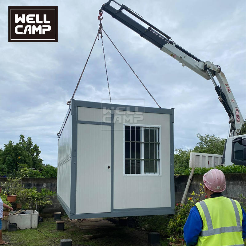 Wellcamp folding container house project in French Ploynesia