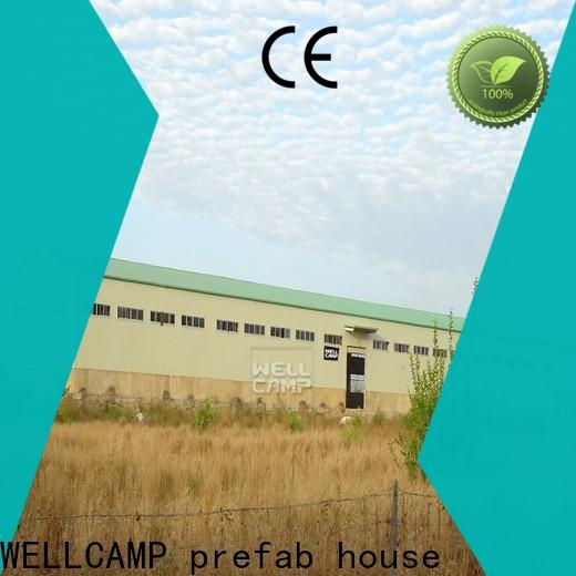 WELLCAMP, WELLCAMP prefab house, WELLCAMP container house widely prefabricated warehouse with brick wall for warehouse