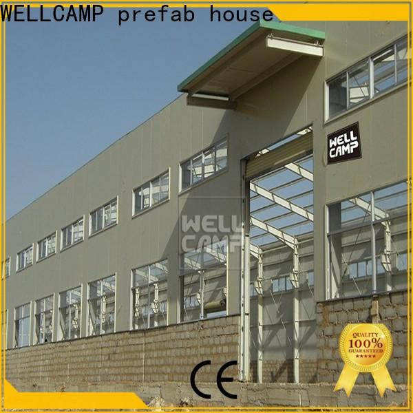 WELLCAMP, WELLCAMP prefab house, WELLCAMP container house steel warehouse with brick wall for goods