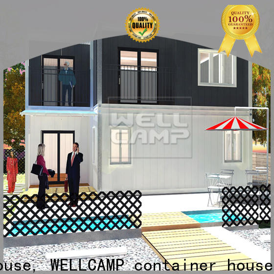 WELLCAMP, WELLCAMP prefab house, WELLCAMP container house china luxury living container villa in garden for hotel