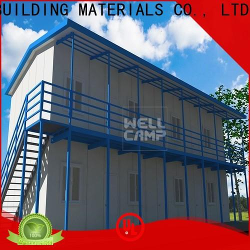 WELLCAMP, WELLCAMP prefab house, WELLCAMP container house fireproof prefab house kits refugee house for accommodation