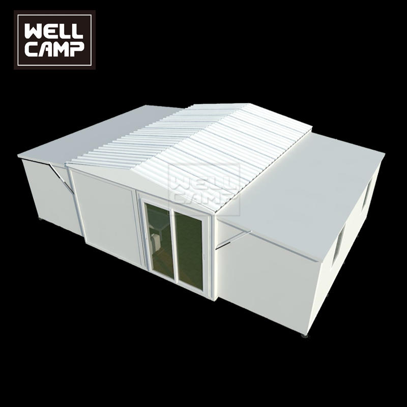 2021 Newest Design Three Bedrooms Poultry Folding Expandable Log Cabin Real Estate House