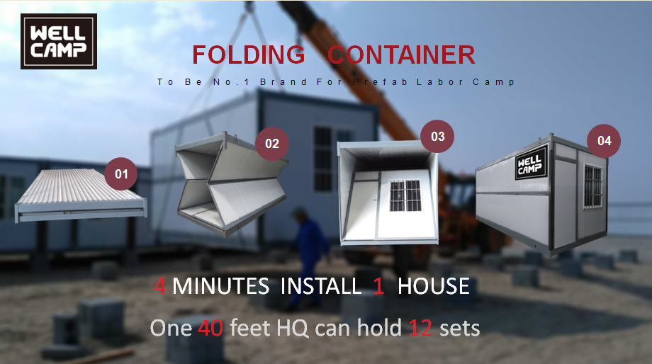 news-What is Folding Container House made of what are the advantages-WELLCAMP, WELLCAMP prefab hous
