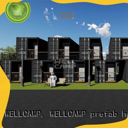WELLCAMP, WELLCAMP prefab house, WELLCAMP container house portable houses built from shipping containers best for hotel