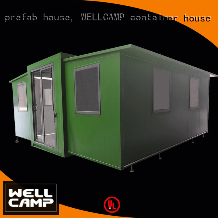 WELLCAMP, WELLCAMP prefab house, WELLCAMP container house standard expandable container house supplier for living