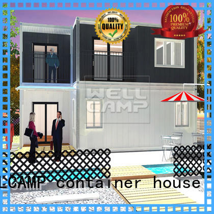 WELLCAMP, WELLCAMP prefab house, WELLCAMP container house light steel modern container homes in garden for resort