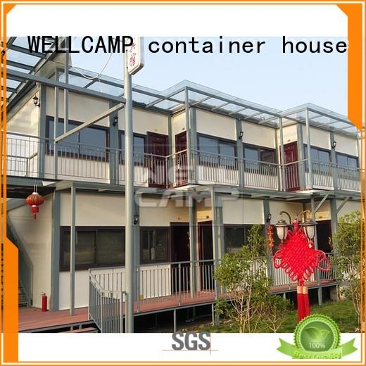 WELLCAMP, WELLCAMP prefab house, WELLCAMP container house china luxury living container villa in garden