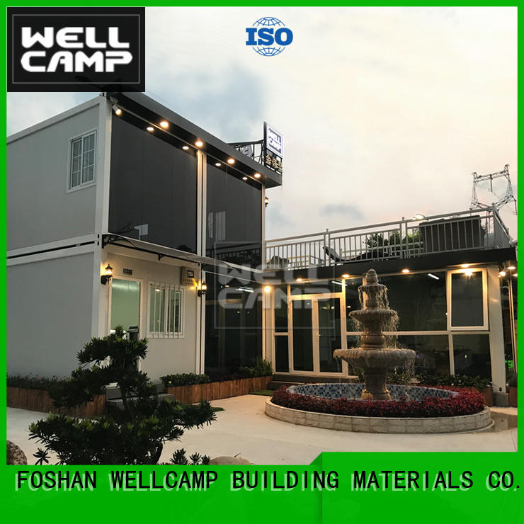 WELLCAMP, WELLCAMP prefab house, WELLCAMP container house modern container homes in garden for hotel