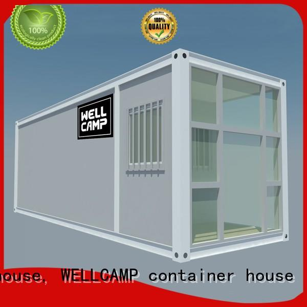 two glass flat pack container house with walkway for sale