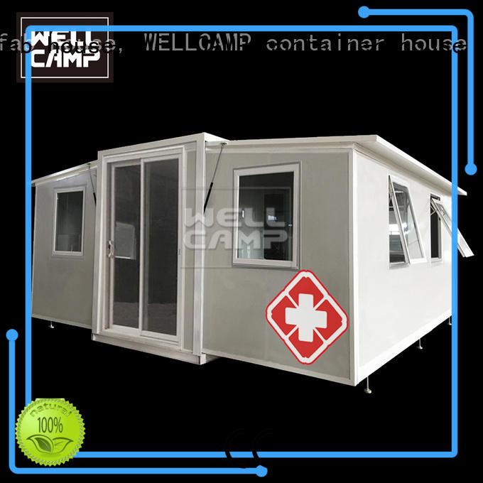 WELLCAMP, WELLCAMP prefab house, WELLCAMP container house big size expandable container house wholesale for apartment