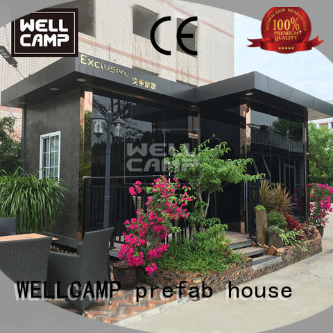 WELLCAMP, WELLCAMP prefab house, WELLCAMP container house affordable luxury container homes in garden for hotel