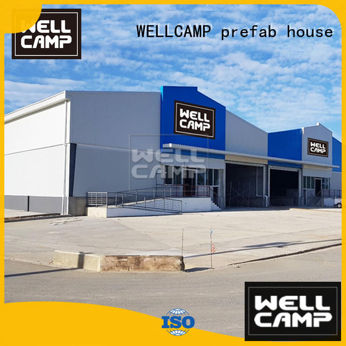 WELLCAMP, WELLCAMP prefab house, WELLCAMP container house steel workshop with brick wall for sale
