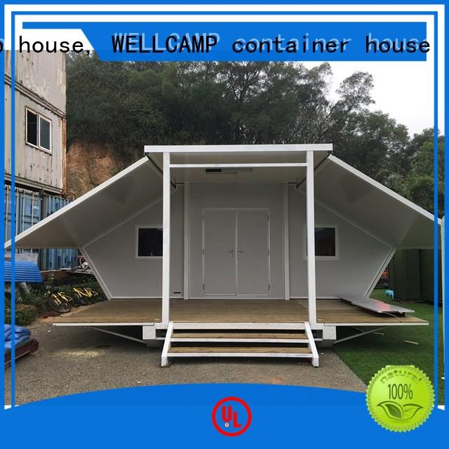 WELLCAMP, WELLCAMP prefab house, WELLCAMP container house Brand expandable shelter factory