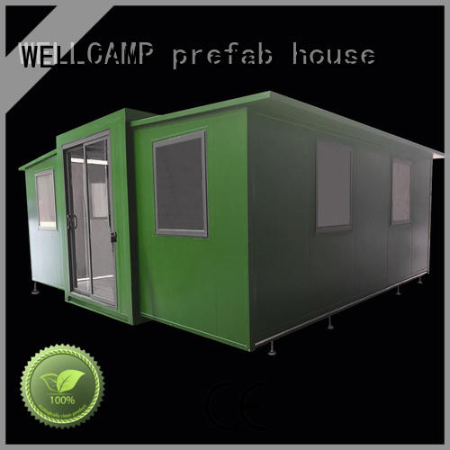 expandable shelter WELLCAMP, WELLCAMP prefab house, WELLCAMP container house manufacture