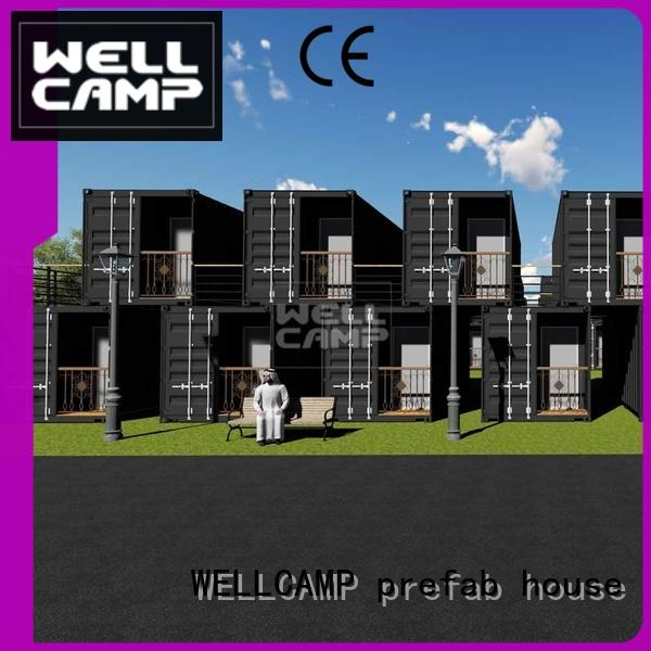 shipping container house for villa resort PVC tile FC board modern shipping container house manufacture