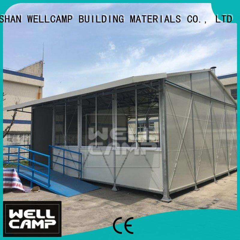 WELLCAMP, WELLCAMP prefab house, WELLCAMP container house dormitory tiny houses prefab home for office