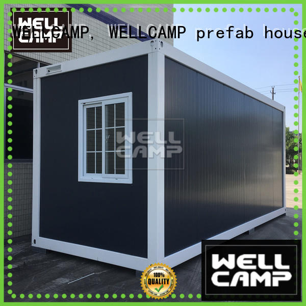 WELLCAMP, WELLCAMP prefab house, WELLCAMP container house two glass flat pack shipping container for sale