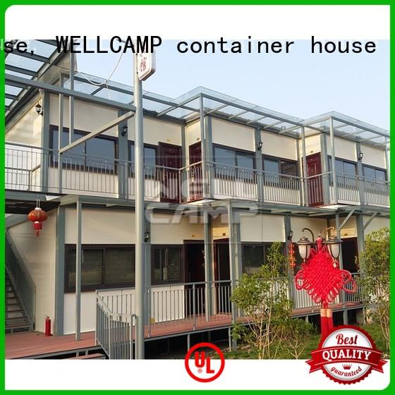 WELLCAMP, WELLCAMP prefab house, WELLCAMP container house shipping container home designs in garden